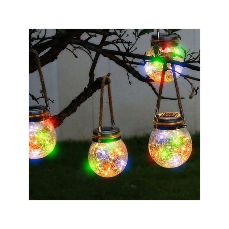 Esfera Cristal Vintage Solar LED RGB