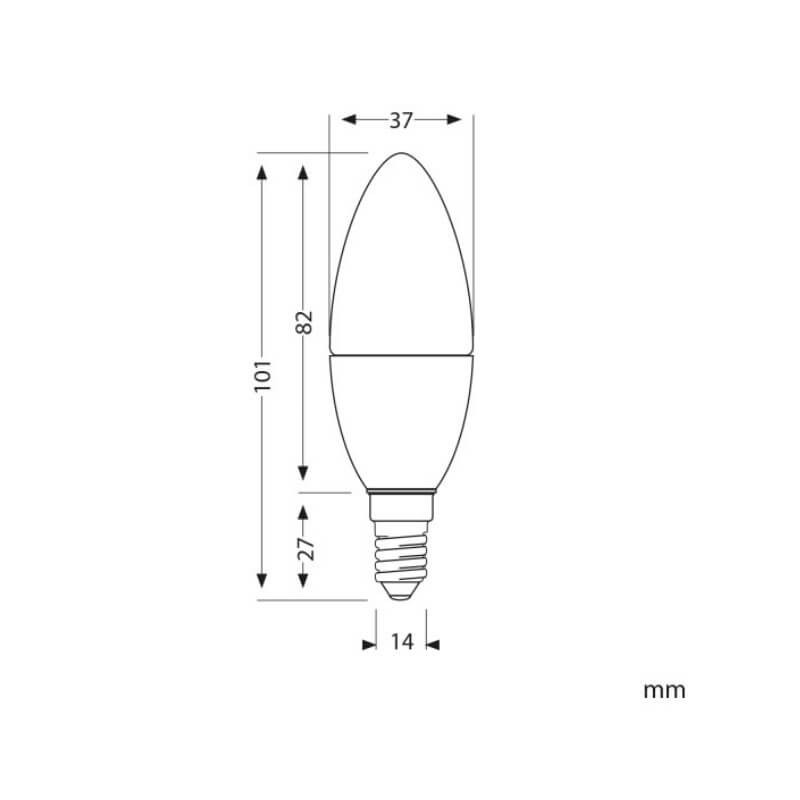 Bombilla LED 12v 4w E14 Opal