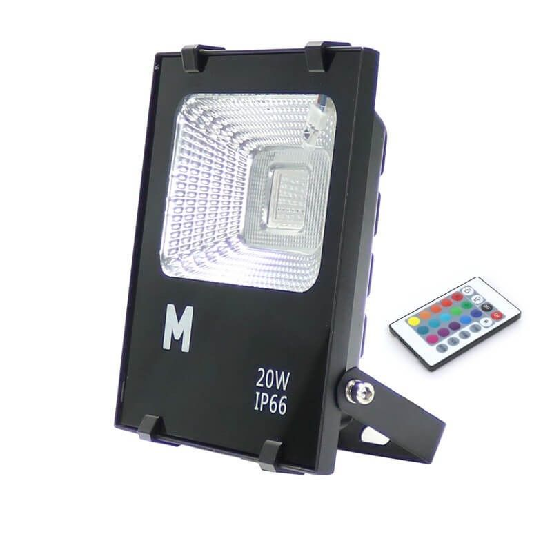 Proyector LED RGB 20w Exterior IP66
